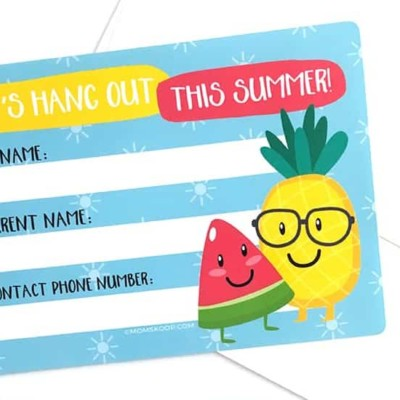 SUMMER CONTACT CARDS – Free Printable to Help Kids Keep In Touch!
