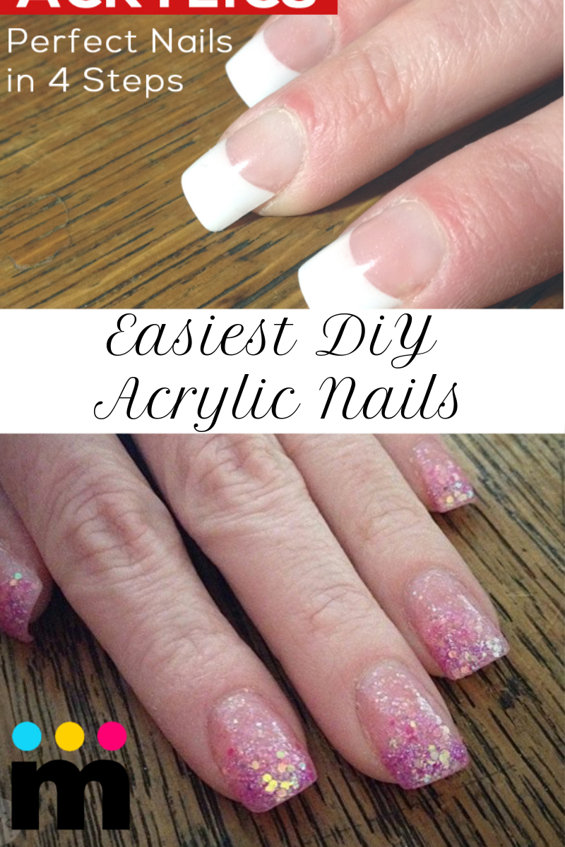 Easiest DIY Acrylic Nails
