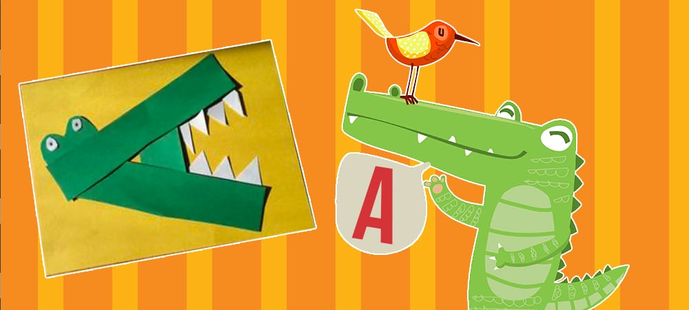 a for alligator easy craft for kids