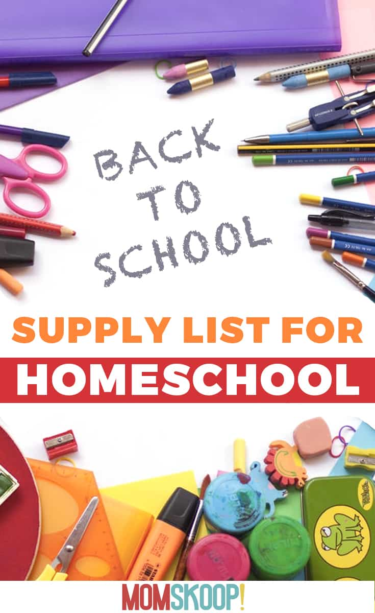 supply list for homeschool
