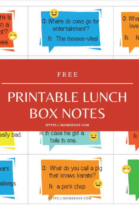 photo relating to Lunch Box Jokes Printable named Laughter Is The Great Medicines + Absolutely free Printable Lunchbox