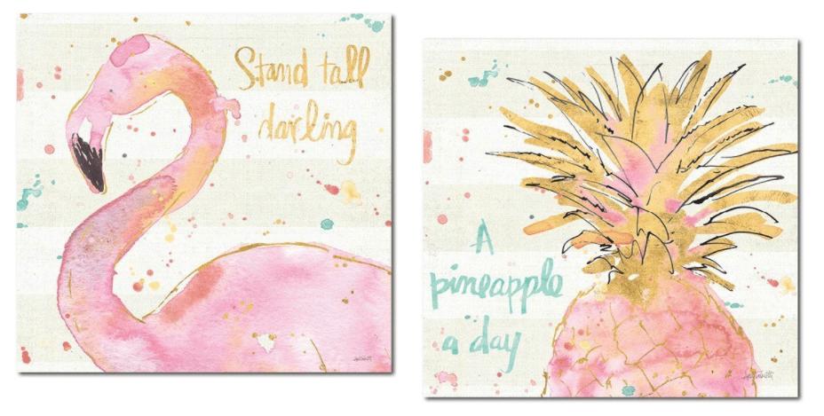 pineapple flamingo decor