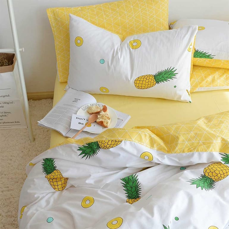 BuLuTu Pineapple Print bedding set