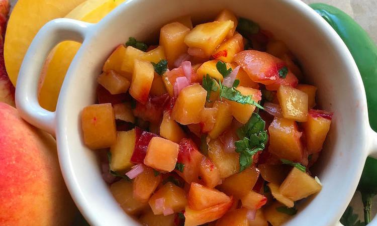 spicy peach salsa recipe main