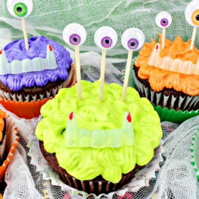 Halloween Monster Cupcakes – How to Make These Cute Not Scary Cupcakes