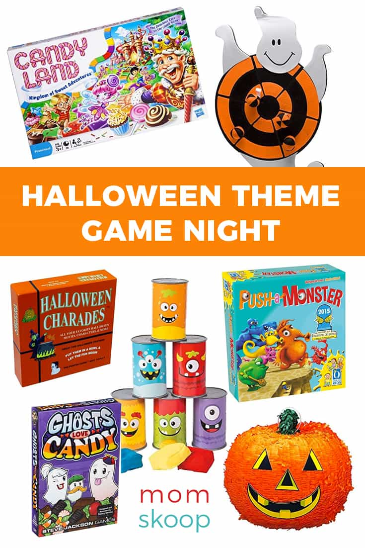 halloween theme game night ideas pin