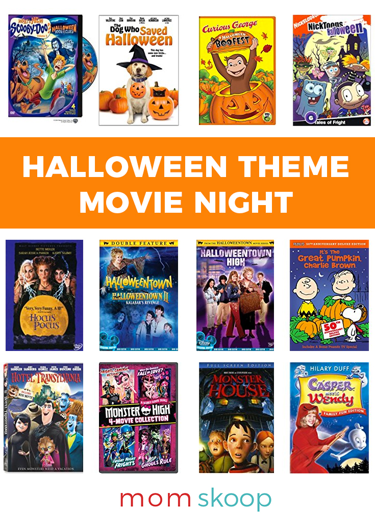 halloween theme movie night ideas pin