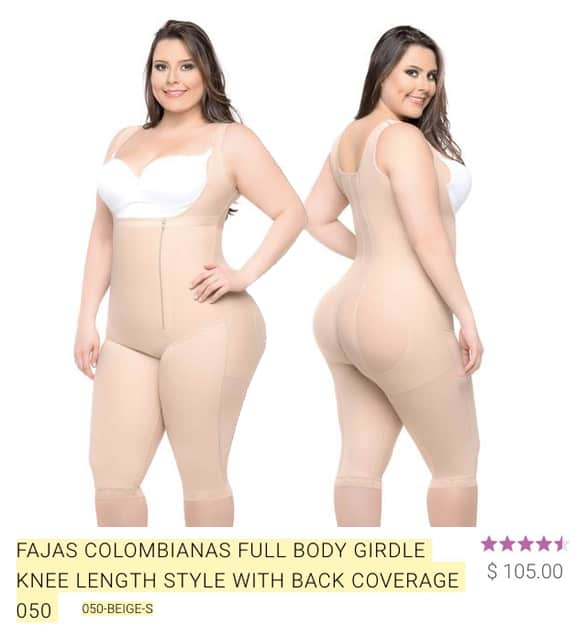 all about shapewear fajas full body knee length with back coverage review