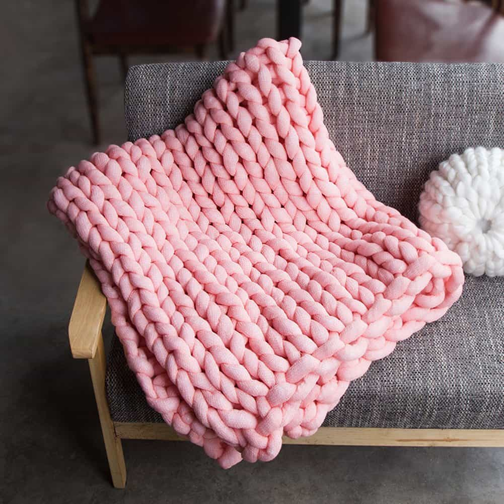 EASTSURE Chunky Knit Throw