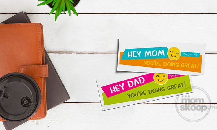 printable parent hard day support cards
