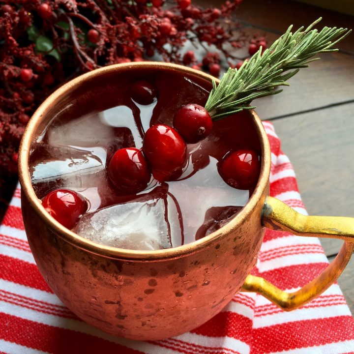 CRANBERRY MOSCOW MULE - A HOLIDAY COCKTAIL