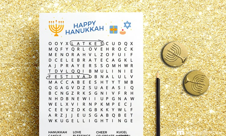 image relating to Hanukkah Prayer Printable called Printable Hanukkah Sport Pack for Children - MomSkoop