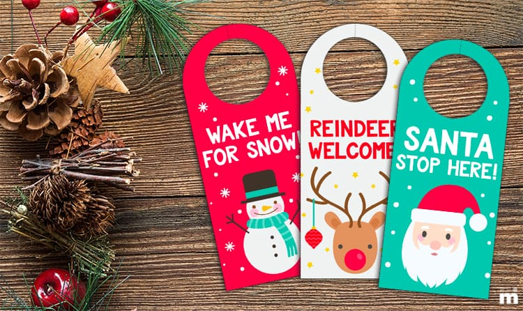printable christmas door hangers kids momskoop