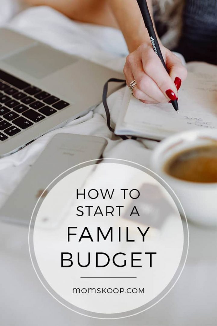 How To Start A Family Budget plus printable budget worksheet