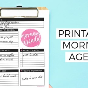 Printable Morning Agenda — Make Over Your Morning Challenge Week 3