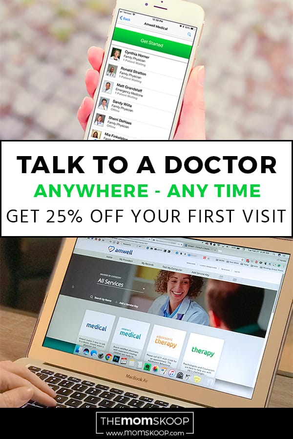 Amwell Doctor Video Chat Talk to a doctor from anywhere at any time discount code