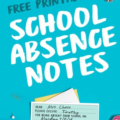 PRINTABLE SCHOOL ABSENCE NOTES + COLD TIPS