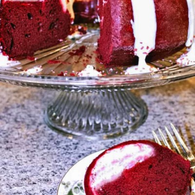 Red Velvet Cream Cheese Bundt Cake