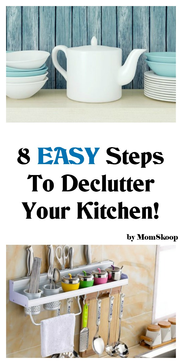 8 easy steps to declutter your kitchen