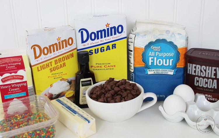 Homemade Little Debbie's Cosmic Brownie ingredients