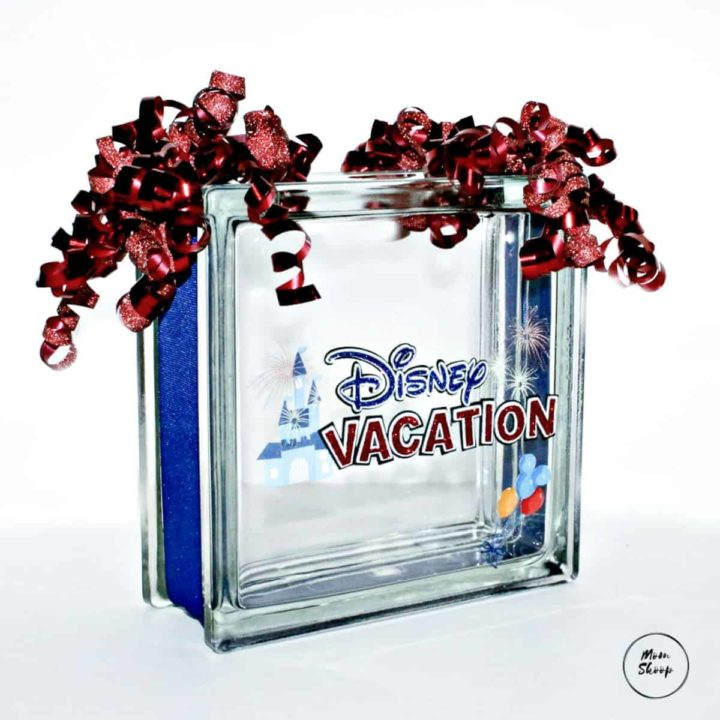 Disney DIY Savings Glass Block - EASY DIY!
