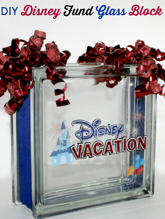 Disney Fund Glass Block