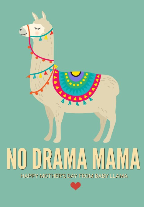 picture about Llama Printable identify Llama Printable Playing cards - Great for Moms Working day - MomSkoop