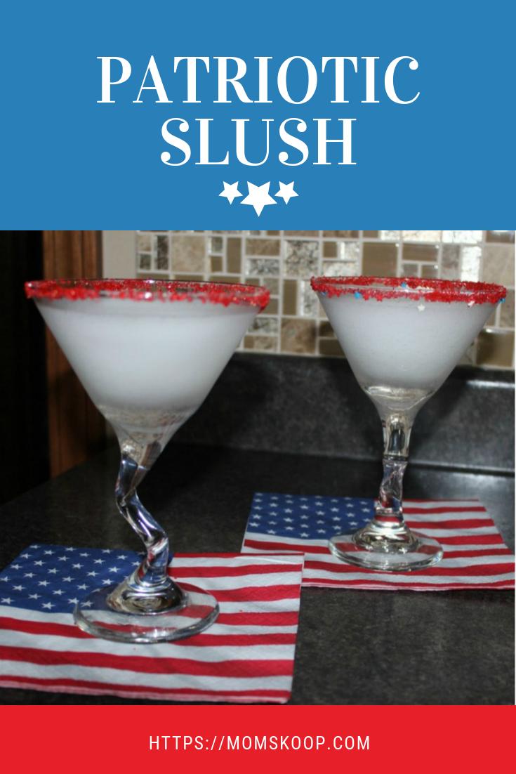 Patriotic Slush, Patriotic Vodka Slush, #vodkaslush #redwhitebluevodkaslush #redwhitebluevoda #slush #patrioticdrink