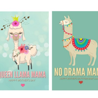 Llama Printable Cards – Perfect for Mother's Day
