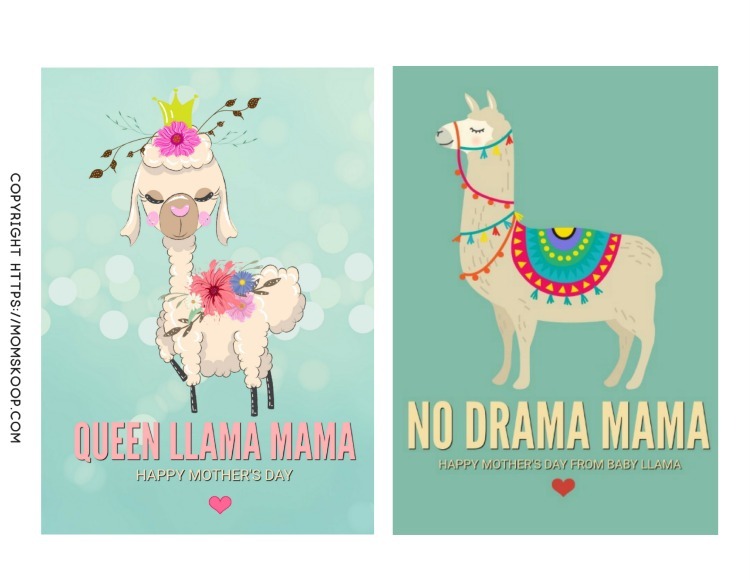 image relating to Llama Printable known as printable playing cards Archives - MomSkoop