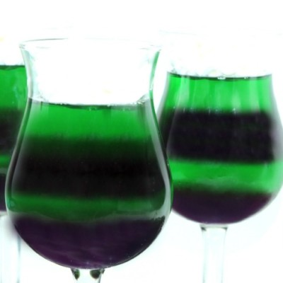 Maleficent's Purple and Green Jello Dessert – Inspired by Disney's Maleficent!