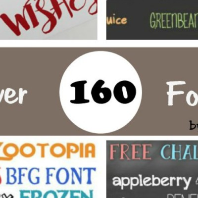 Over 160 Fonts! Just in Time for Back to School!