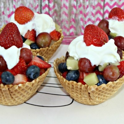 How to Make These Yummy Ice Cream Cone Fruit Cups