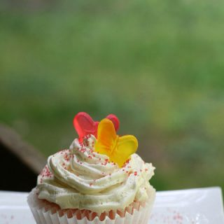 Pink Lemonade Cupcake with white frosting