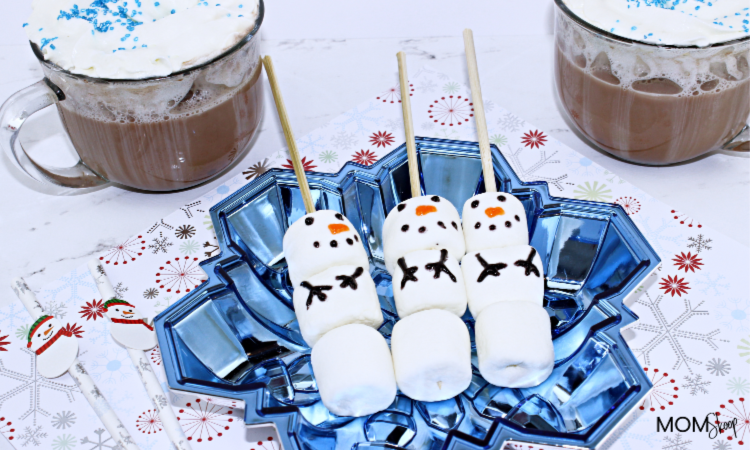 Marshmallow Snowman for Hot Chocolate