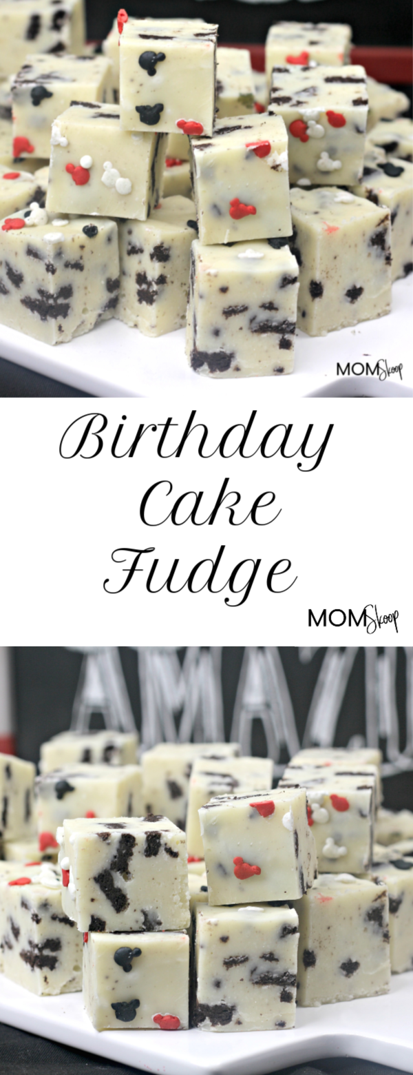 Oreo Birthday Cake Fudge