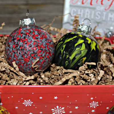 Melted Crayon Art Ornaments