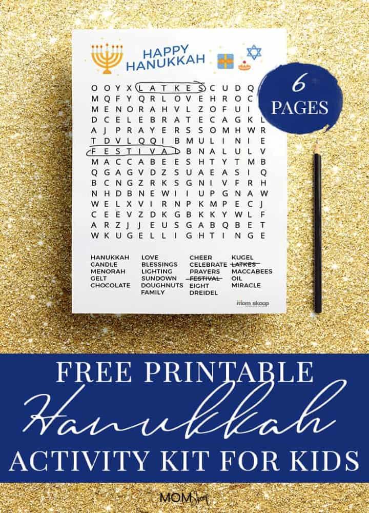 Hanukkah Printable Page