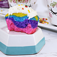 Unicorn Cupcakes - Not Your Typical Christmas Cupcake!