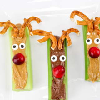 Celery and Peanut Butter Rudolph Snacks Recipe - Here's How to Make These Yummy Treats
