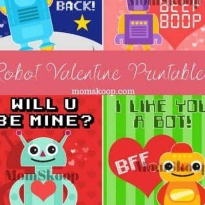 PRINTABLE ROBOT VALENTINES – Make Hearts Go BEEP BEEP!