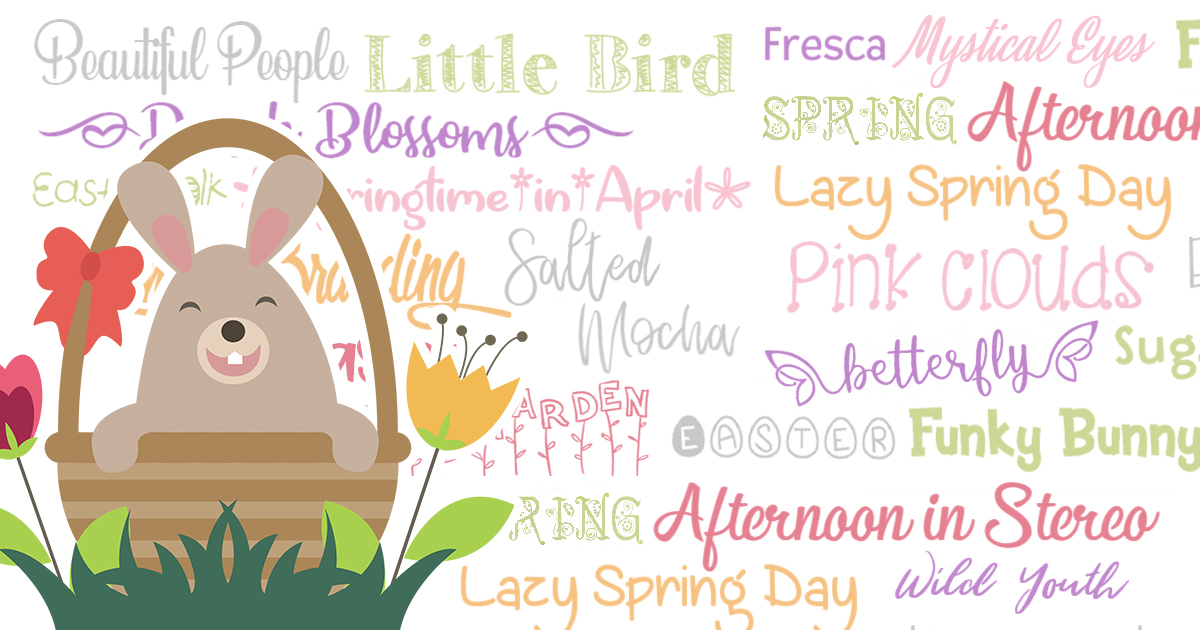 20 Free Spring Fonts