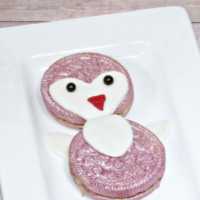 A Fun Penguin Dessert - Penguin Heart Cookies