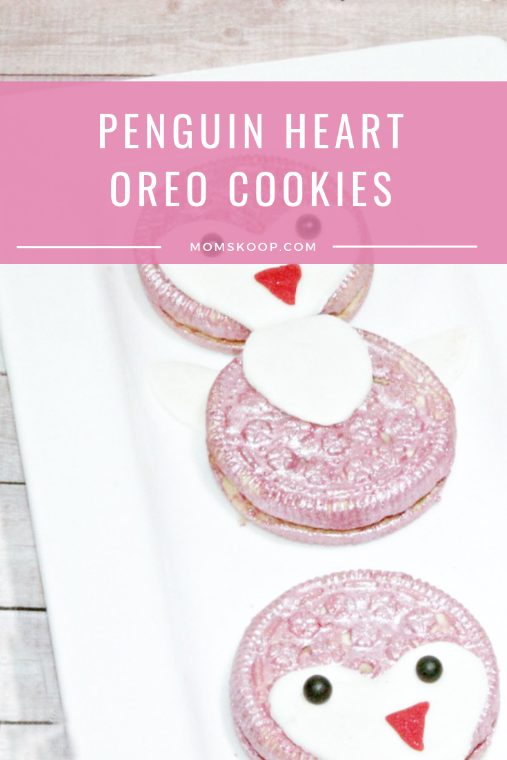 Penguin Heart Oreo Cookies