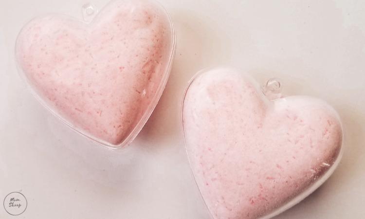 Pink Heart Bath Bombs