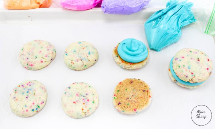Rainbow Sprinkles Whoopie Pies