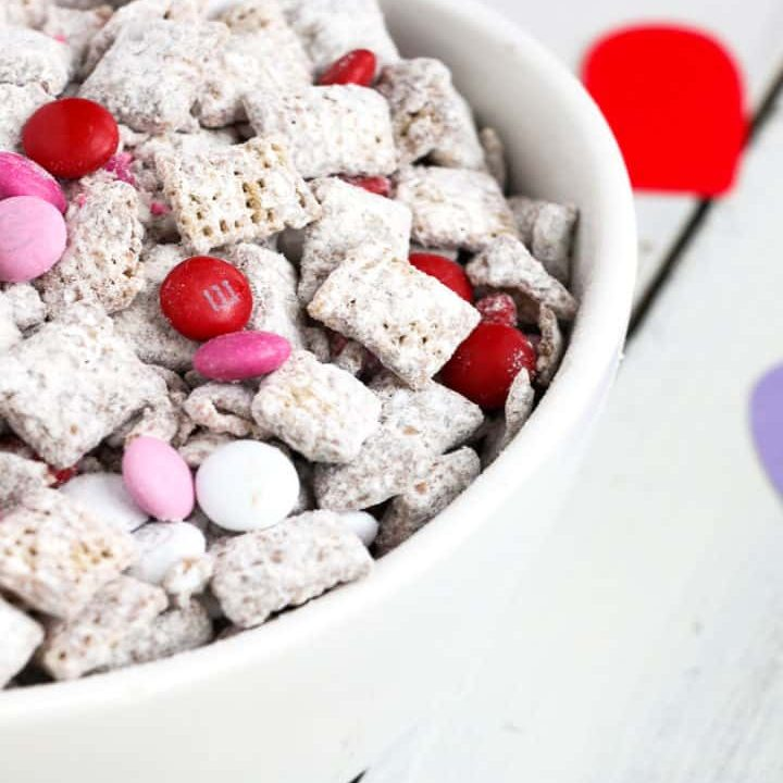 Puppy Chow Recipe - Valentine's Day Style
