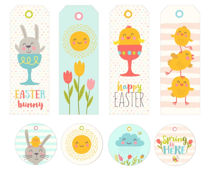 free easter printable easter bookmarks easter cupcake toppers1