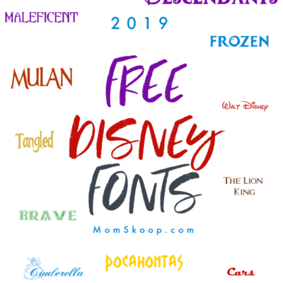 FREE DISNEY FONTS UPDATED FOR 2019!