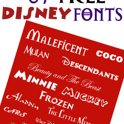 The Best List of Free Disney Fonts